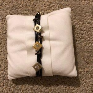 Jewelry - Leather bracelet with gold accent beads
